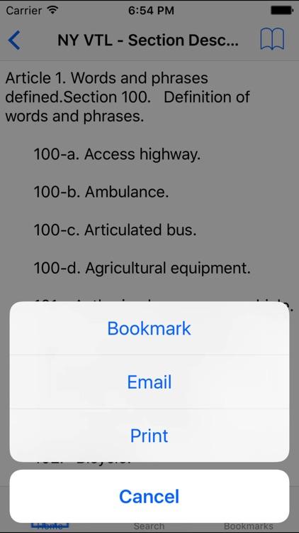 NY Vehicle and Traffic Code screenshot-4