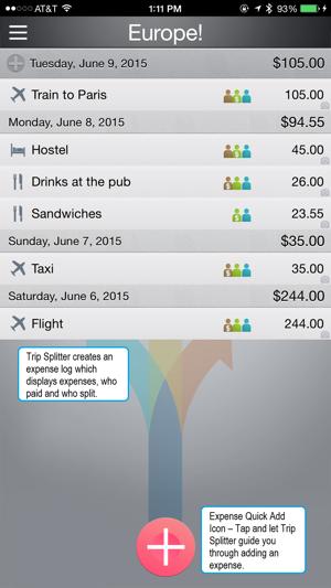 trip splitter lite track shared expenses on the app store