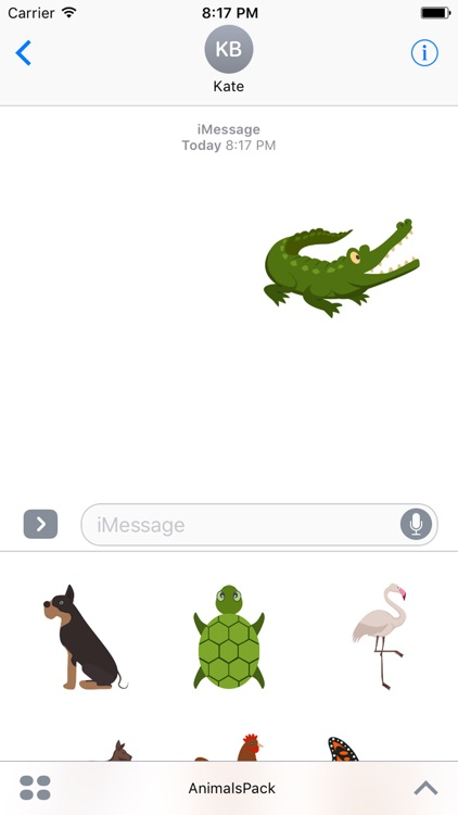 Animal Sticker Pack for Messaging