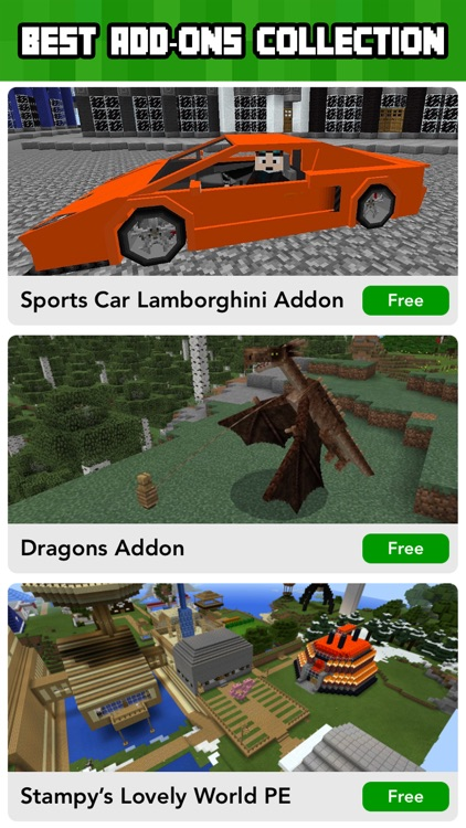 Add ons for Minecraft PE - MCPE Maps & Mini Games app image