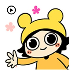 Funny Girl Animated Stickers
