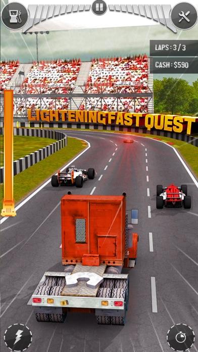 真正的拇指车赛车空中 - 乐趣赛车游戏最终交通赛车在沥青集会在公路2017年3D App 截图