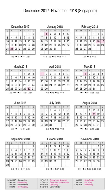 Calendar 2017 Singapore : Singapore calendar with sg public holiday by janice ong
