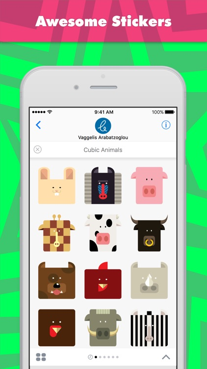 Cubic Animals stickers by Carterson