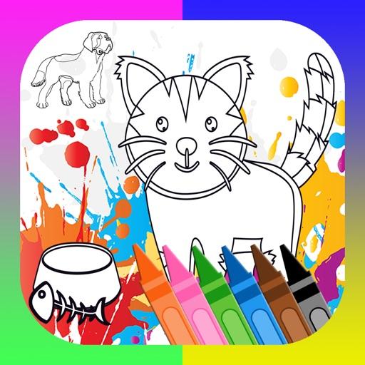 jugar y aprender para colorear perros gatos dibujo App Revisión ...