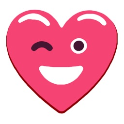Heart Pink Love Emojis Stickers for iMessage