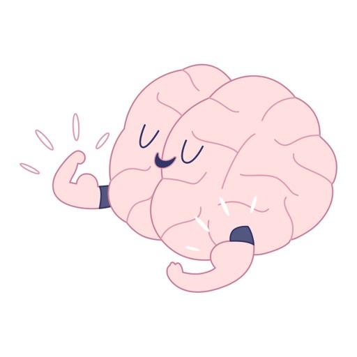 Train your brain Stickers Set