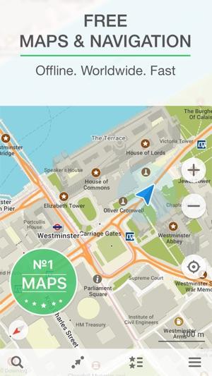 Best Offline World Map App.  MAPS ME Offline Map Nav on the App Store