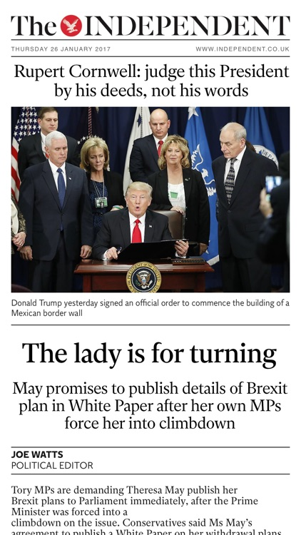The Independent Daily Edition: UK & World News