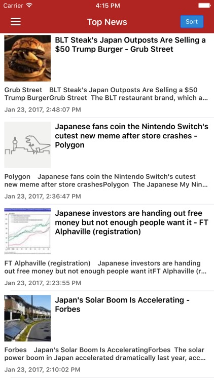 Japanese News in English Pro screenshot-0
