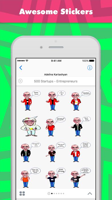 Adaによる500 Startups - Entrepreneursステッカーのスクリーンショット1