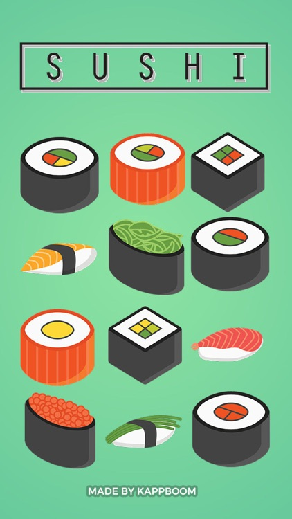 Sushi Pieces Stickers