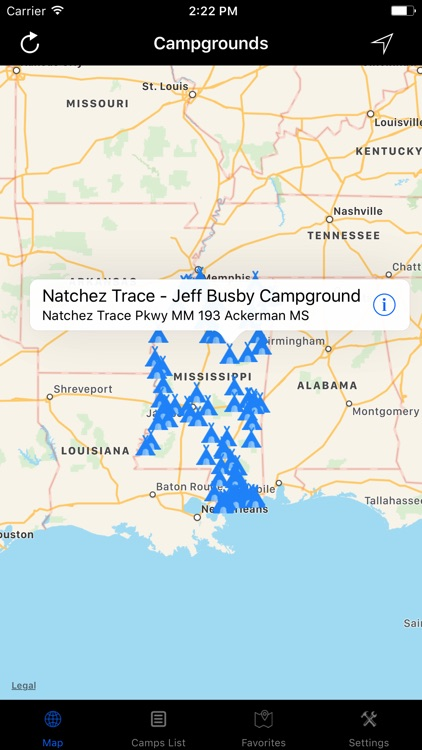 Mississippi – Campgrounds & RV Parks