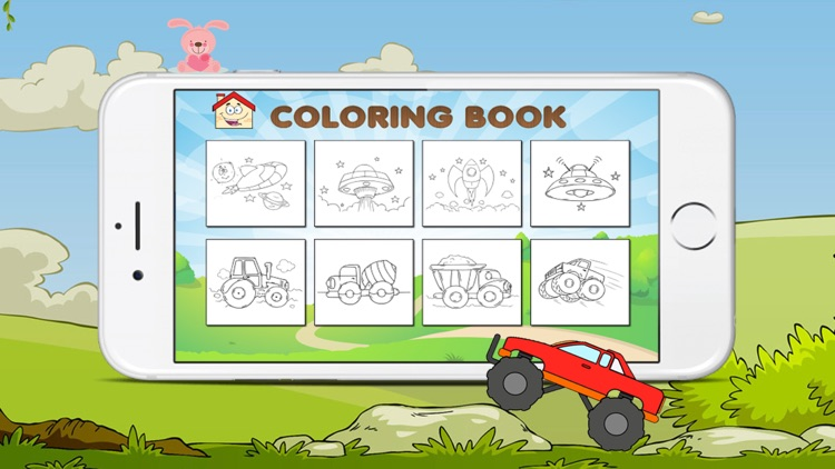 The Coloring Book of a car and animals for kids screenshot-4