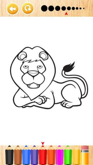Wonder Animal safari coloring book games for kids on the App Store
