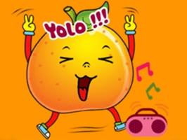 Emoji Oranges Stickers