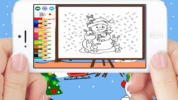Christmas Santa Coloring Book Games For Kids Free screenshot-4