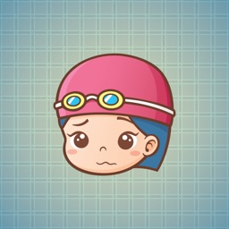 Sticker Me Swimming Girl