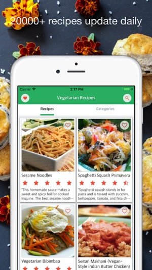 Vegetarian recipes daily meal cooking on the app store screenshots forumfinder Images