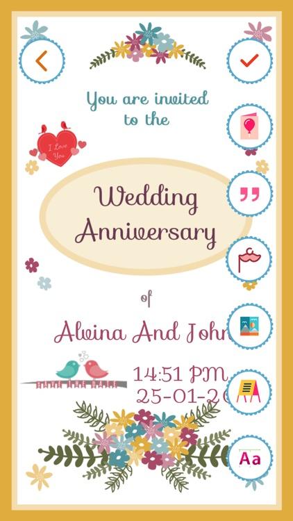 Anniversary Invitation Card Maker by Bhavik Savaliya