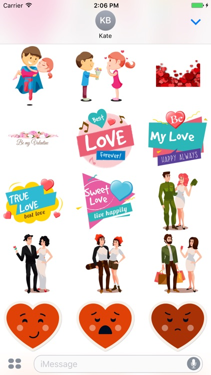 Love stickers pack