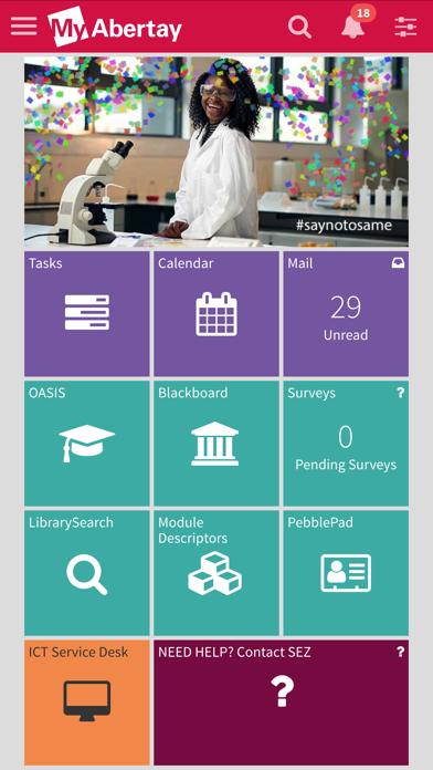 myAbertay screenshot 1