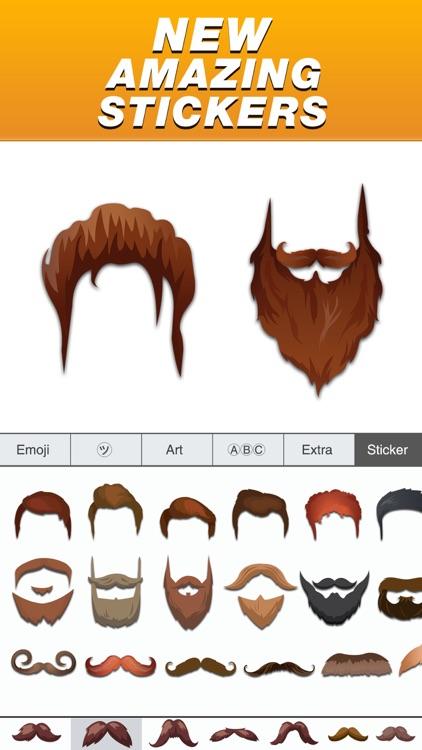 Classic Hipsters Mustache Sticker Pack screenshot-3