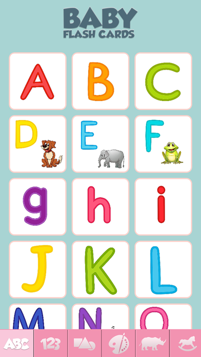 Baby Flash Cards Game Learn Alphabet Numbers Words