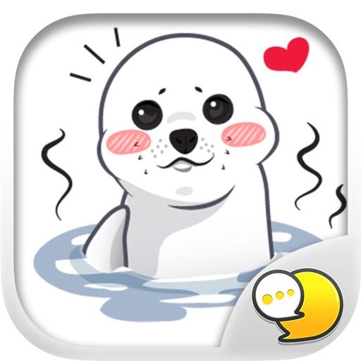 Little Seal Stickers & Emoji Keyboard By ChatStick