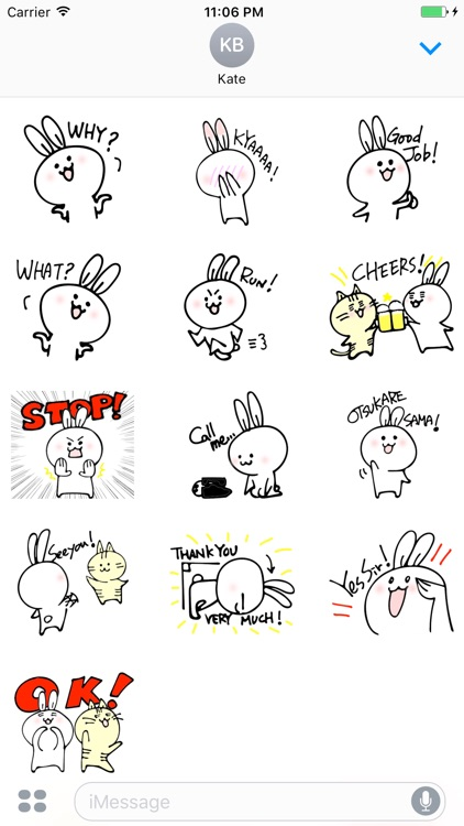 Anwyll The Little Cute Bunny Stickers