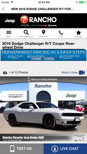 Rancho Chrysler Dodge Jeep RAM on the App Store