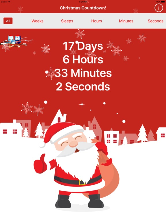 screenshot 1 for countdown to christmas clock celebration begins