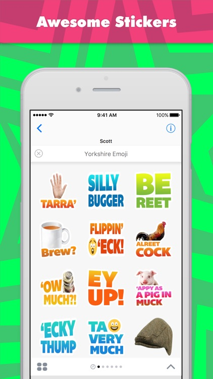 Yorkshire Emoji stickers by scottbroughton