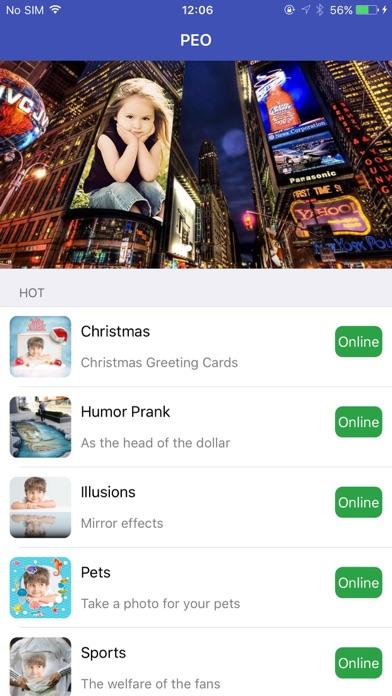 PEO - Photo Effects Online screenshot one