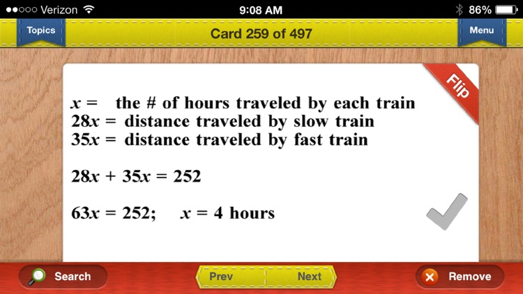 PCAT Prep Math Flashcards Exambusters screenshot-4