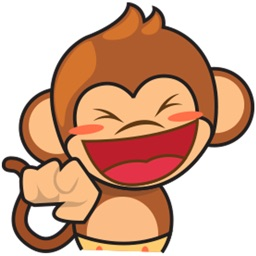 Chiki, the funny monkey for iMessage Sticker