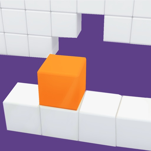 Fill the hole - Roll the cube to the left or right