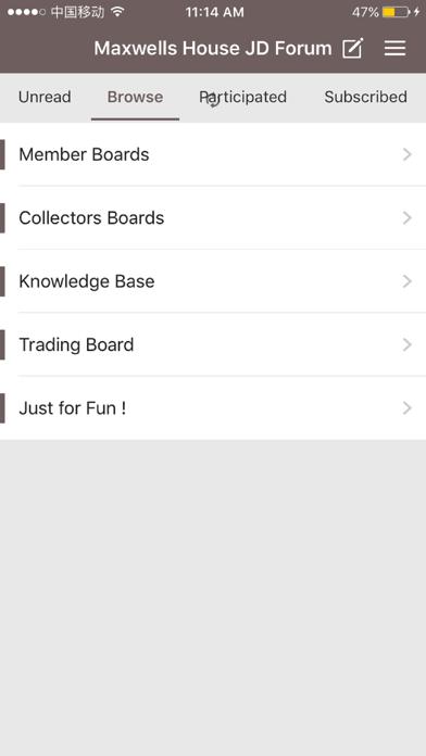 Maxwells House Jack Daniels Collectors Forum screenshot 1