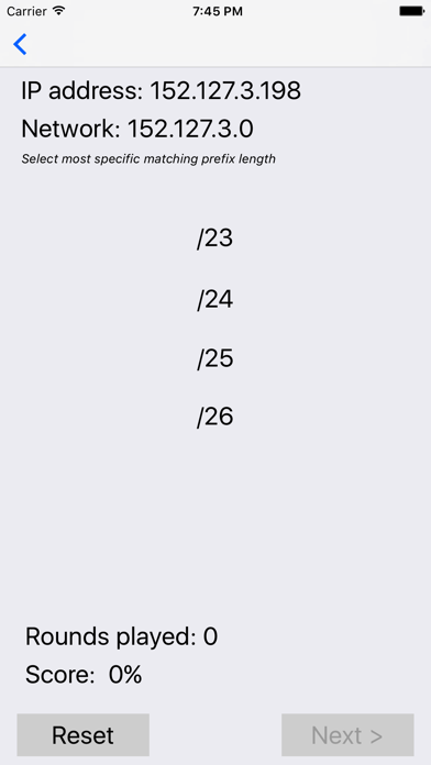IP Prefix Sizes screenshot two