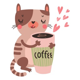 Cats and Coffee Sticker Pack