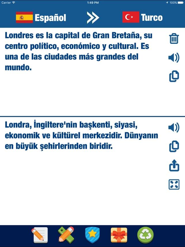 Turco Español Traducción - Diccionario & Traductor en App Store