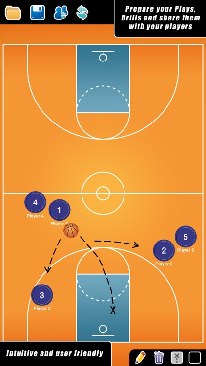 Coach Tactical Board for Basketball