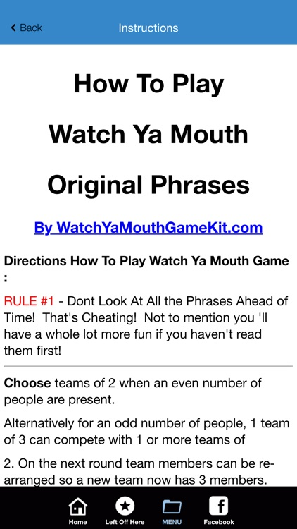 Mumble Mouth Game Phrases