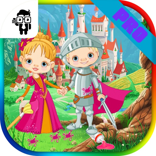 Princess Kids Coloring Book Pro