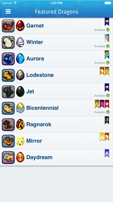Breeding Guide for DragonVale screenshot one