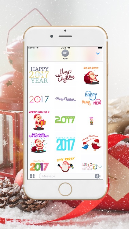 Merry Xmas & Happy New Year Stickers