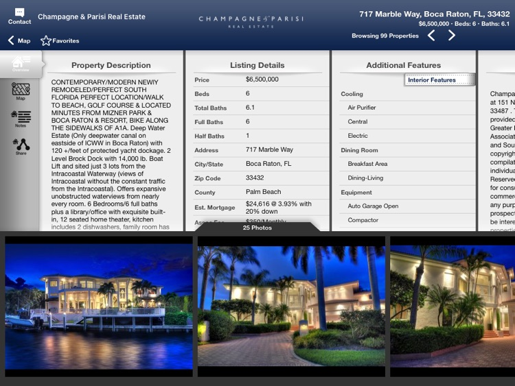 Champagne & Parisi Real Estate for iPad screenshot-3