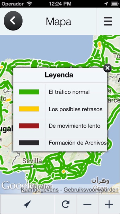 Road information Spain (ES) Real time Traffic Jam