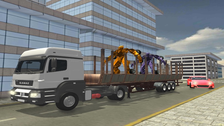 Car Robot Sim Transport Truck screenshot-3