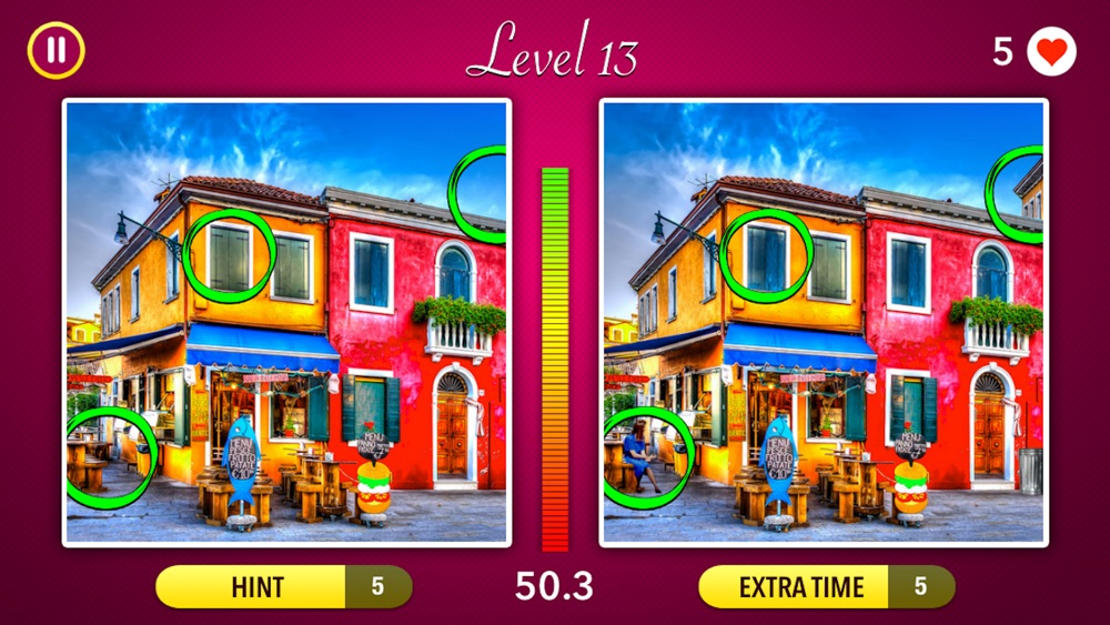 Spot the Difference! ~ Fun Puzzle Games Cheat Codes